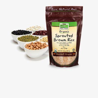 Ziarna, ryż i fasola