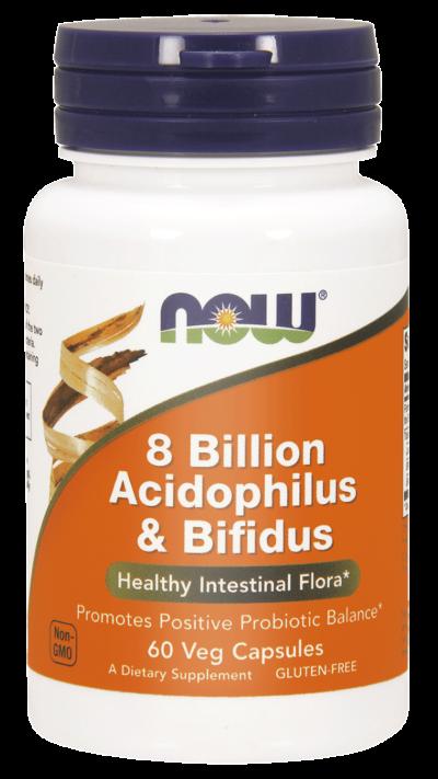 acidofilus i bifidus 8 miliardów probiotyk now foods 60 kapsułek