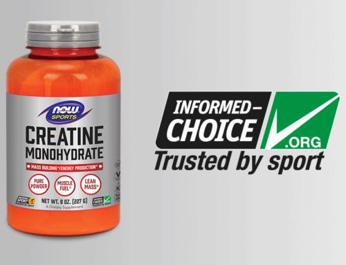 NOW® Sports gwarantuje czystość certyfikacją Informed-Sport